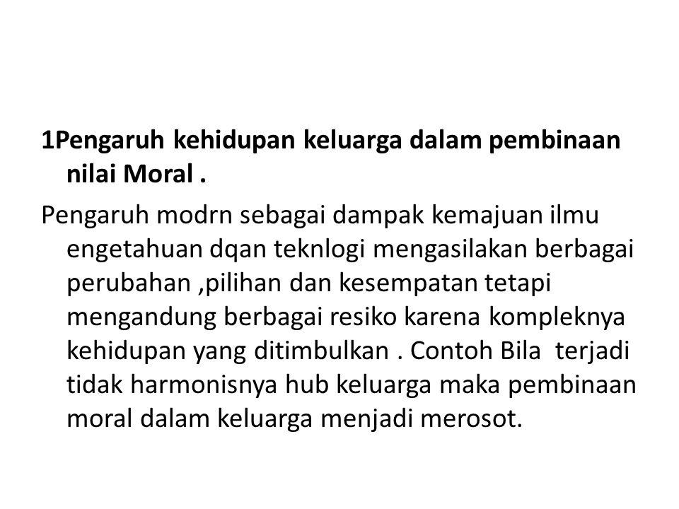 1Pengaruh kehidupan keluarga dalam pembinaan nilai Moral