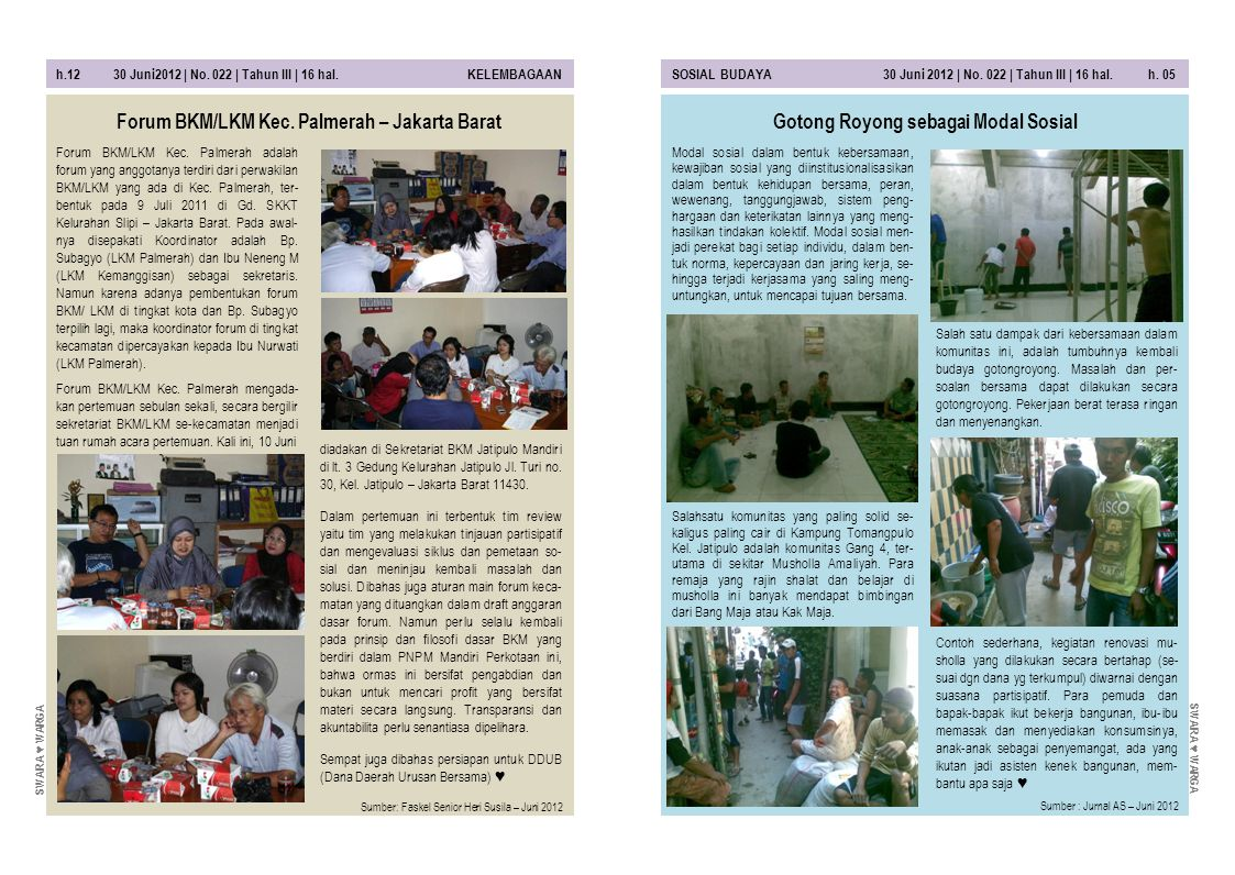 Forum BKM/LKM Kec. Palmerah – Jakarta Barat