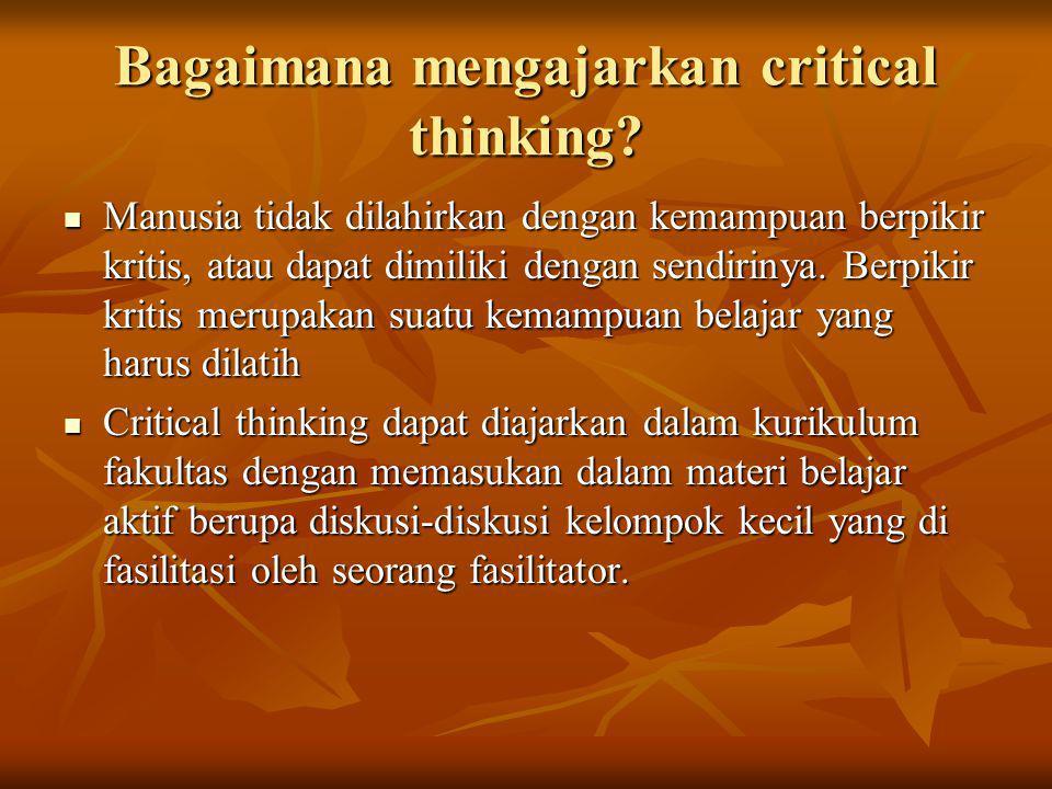 Bagaimana mengajarkan critical thinking