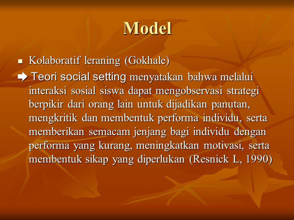 Model Kolaboratif leraning (Gokhale)