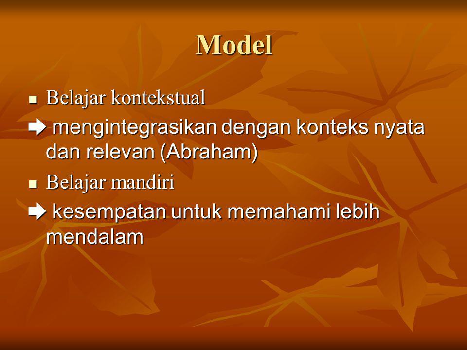 Model Belajar kontekstual