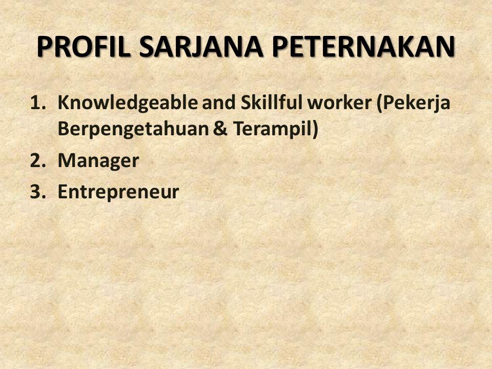 PROFIL SARJANA PETERNAKAN