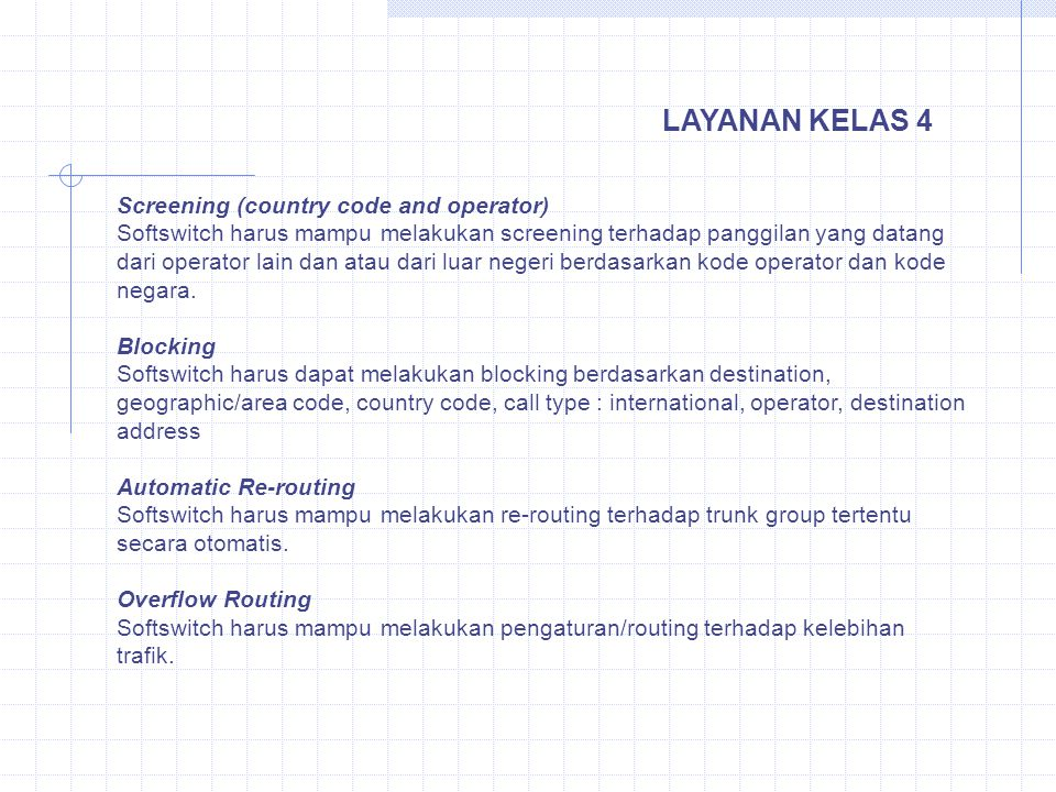 LAYANAN KELAS 4 Screening (country code and operator)
