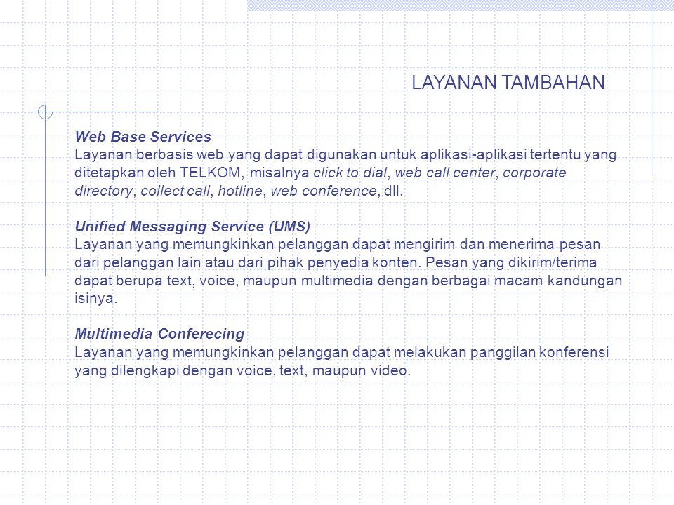 LAYANAN TAMBAHAN Web Base Services