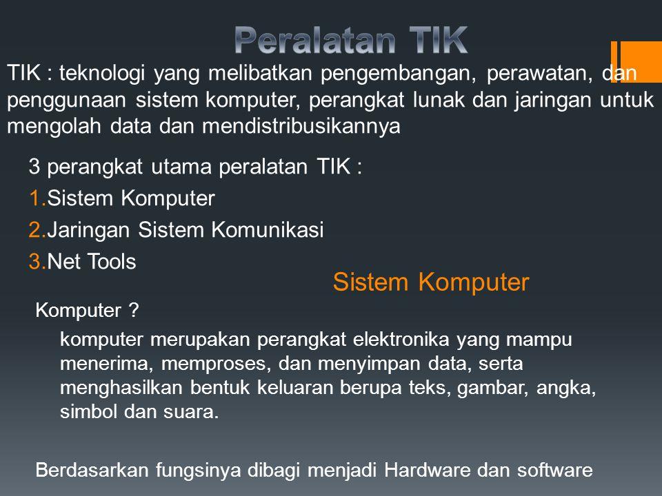 Peralatan TIK Sistem Komputer