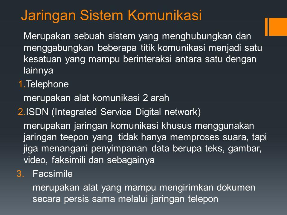 Jaringan Sistem Komunikasi