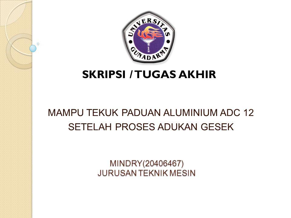 MINDRY(20406467) JURUSAN TEKNIK MESIN