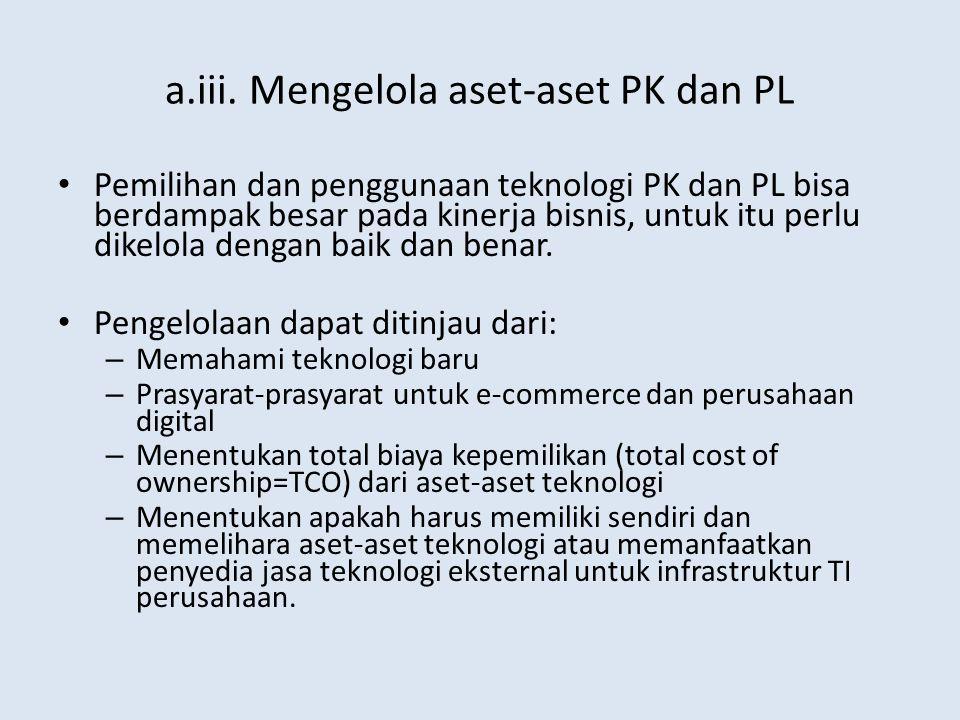 a.iii. Mengelola aset-aset PK dan PL