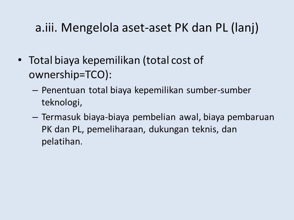 a.iii. Mengelola aset-aset PK dan PL (lanj)