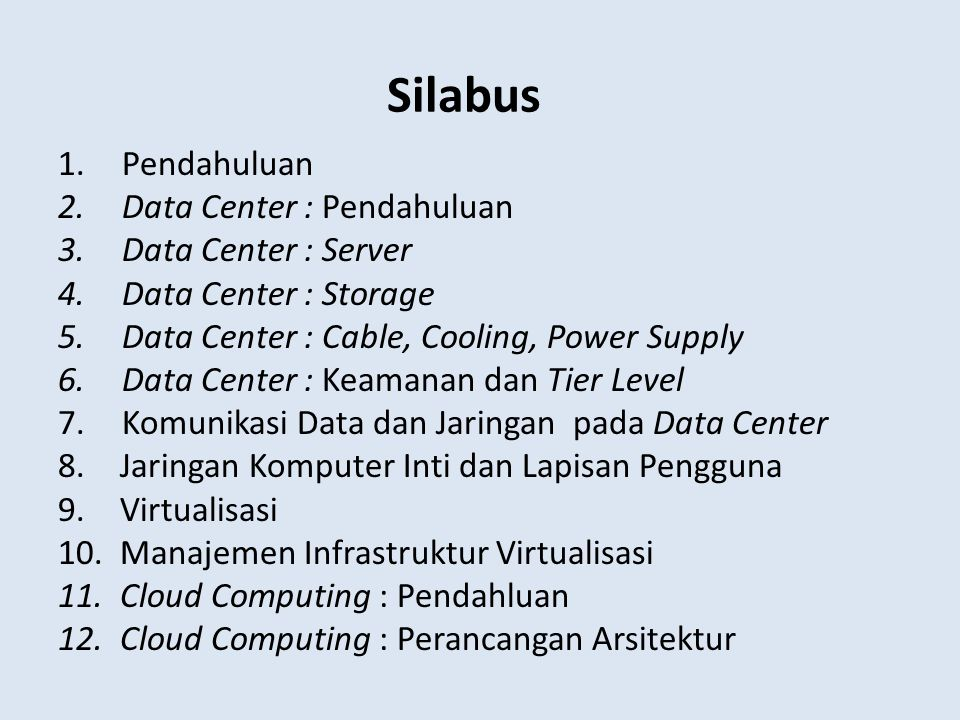 Silabus Pendahuluan Data Center : Pendahuluan Data Center : Server