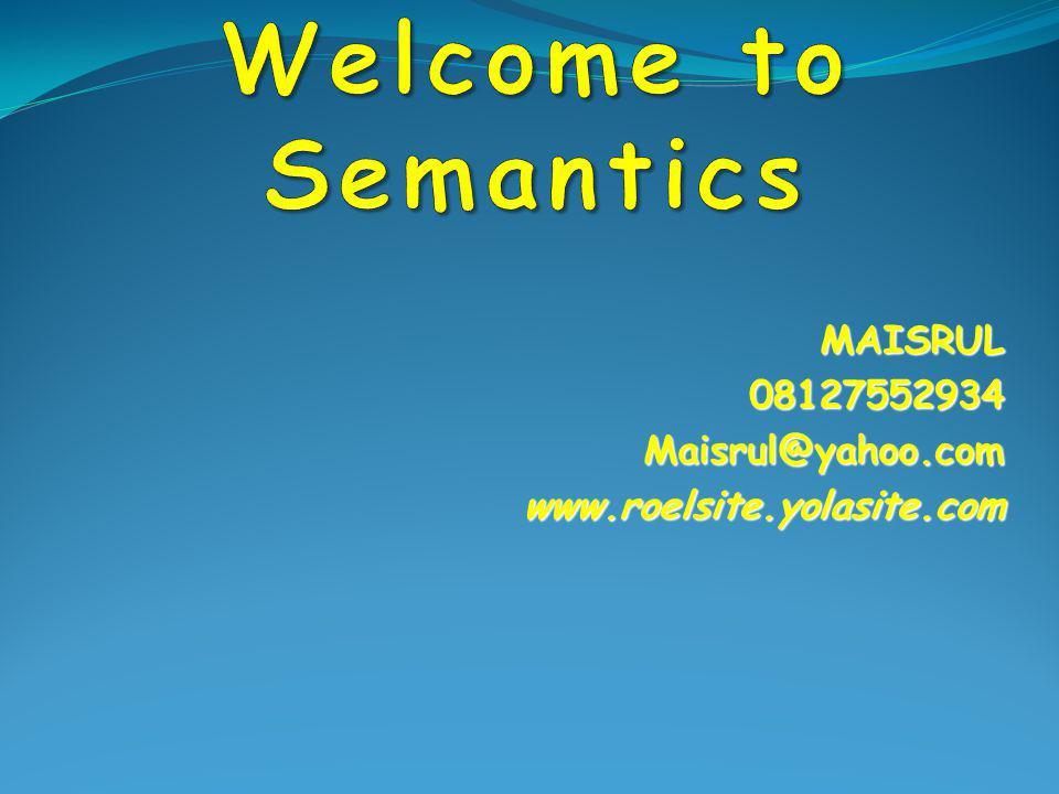 MAISRUL 08127552934 Maisrul@yahoo.com www.roelsite.yolasite.com