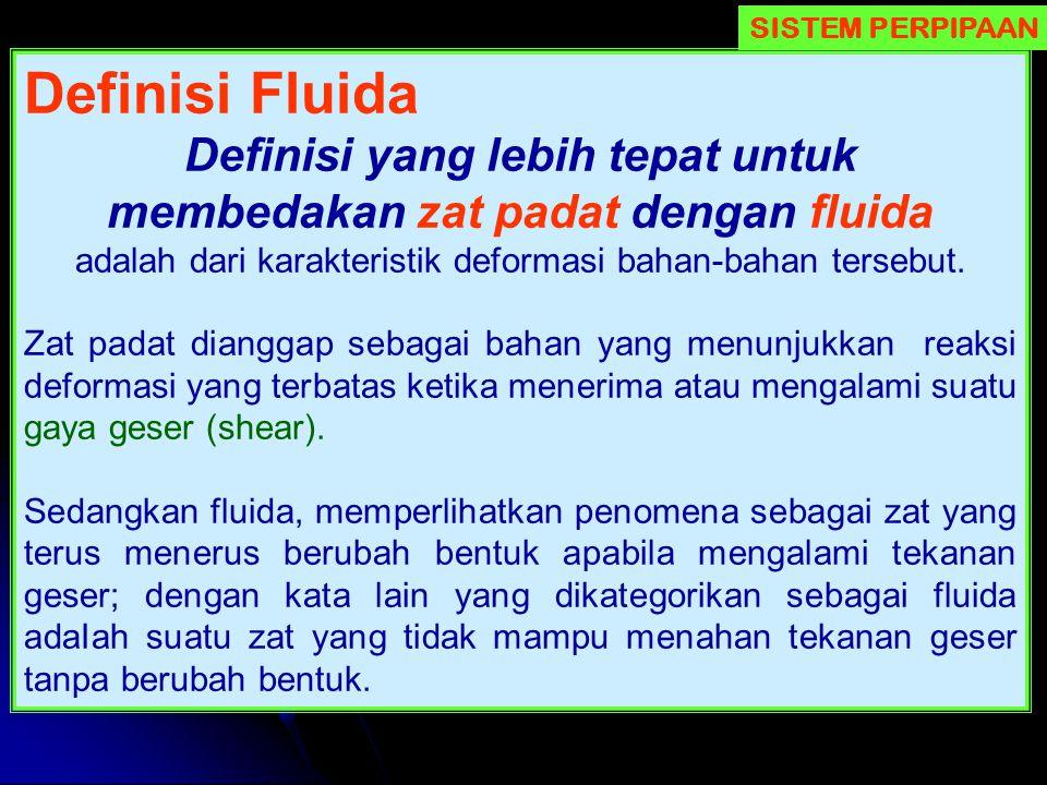 Definisi yang lebih tepat untuk membedakan zat padat dengan fluida