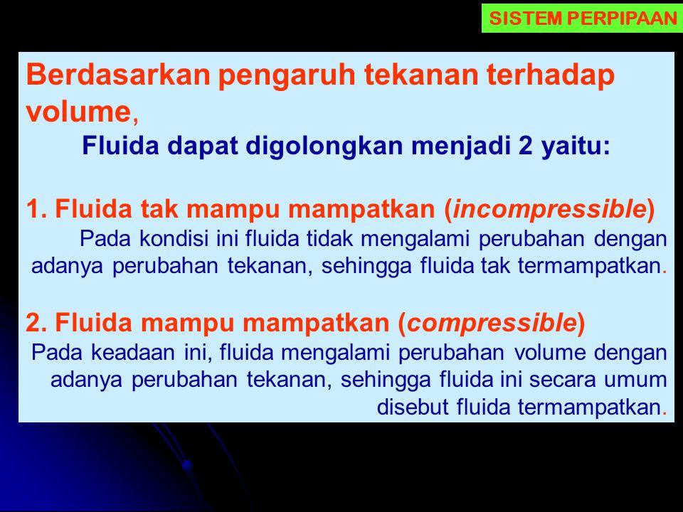 Fluida dapat digolongkan menjadi 2 yaitu: