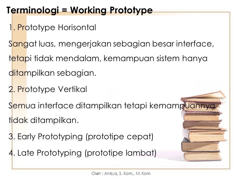 Terminologi = Working Prototype
