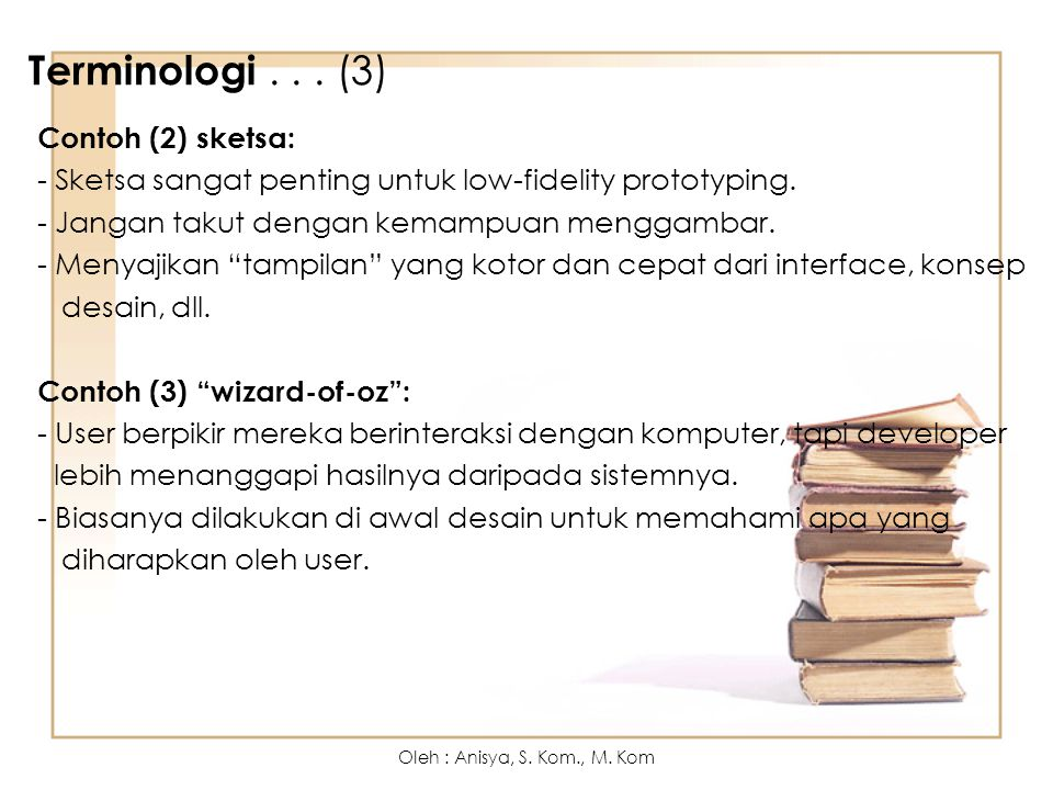 Terminologi . . . (3) Contoh (2) sketsa: