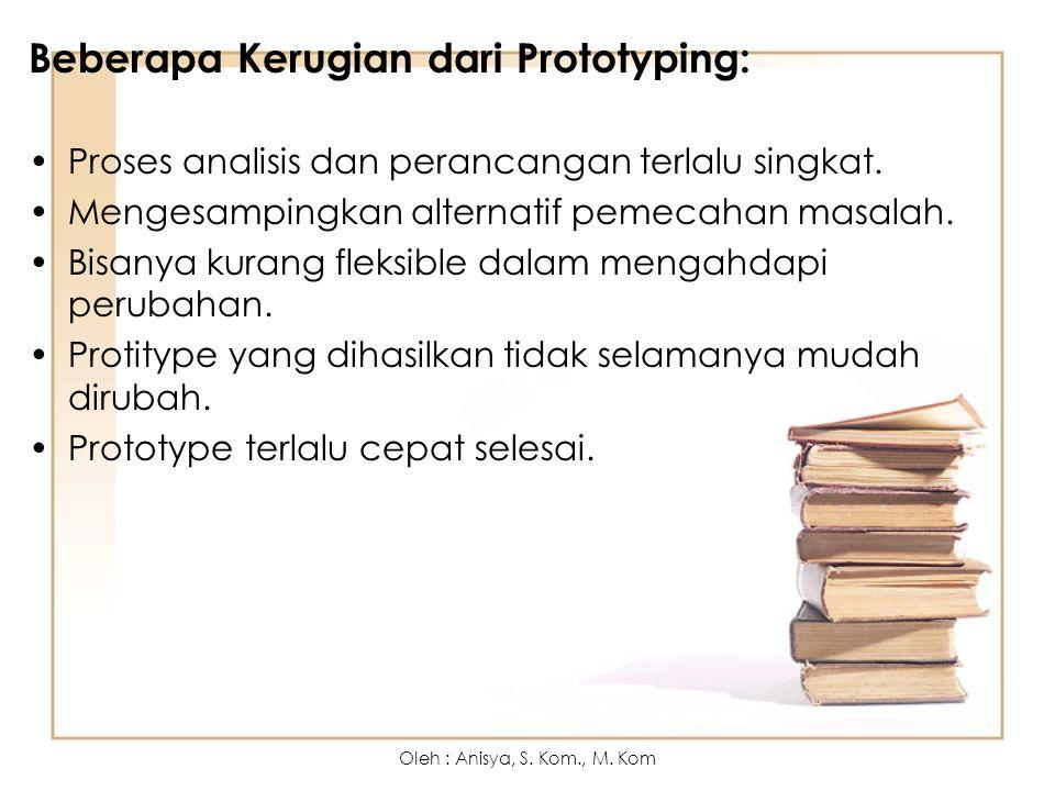 Beberapa Kerugian dari Prototyping: