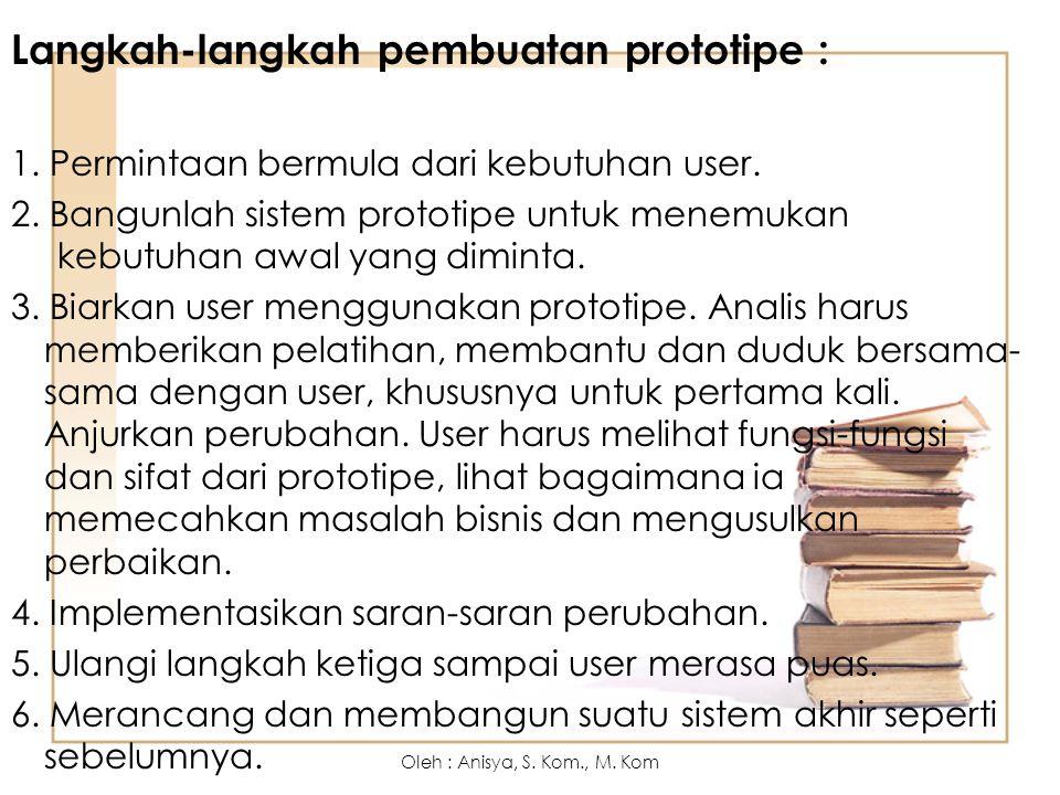 Langkah-langkah pembuatan prototipe :