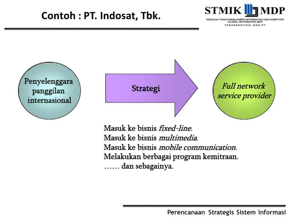 Contoh : PT. Indosat, Tbk.