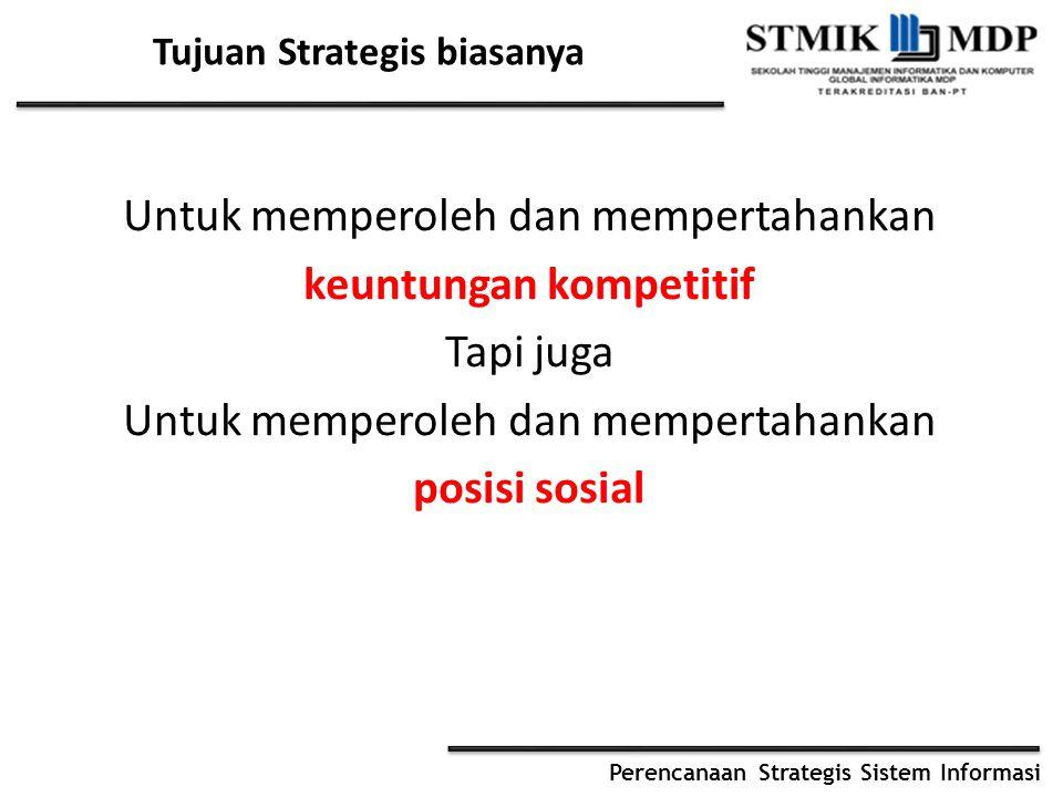 Tujuan Strategis biasanya