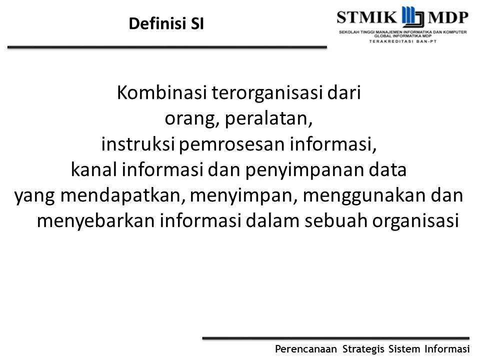 Definisi SI