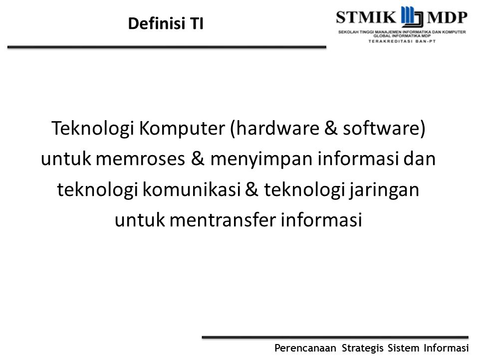Teknologi Komputer (hardware & software)