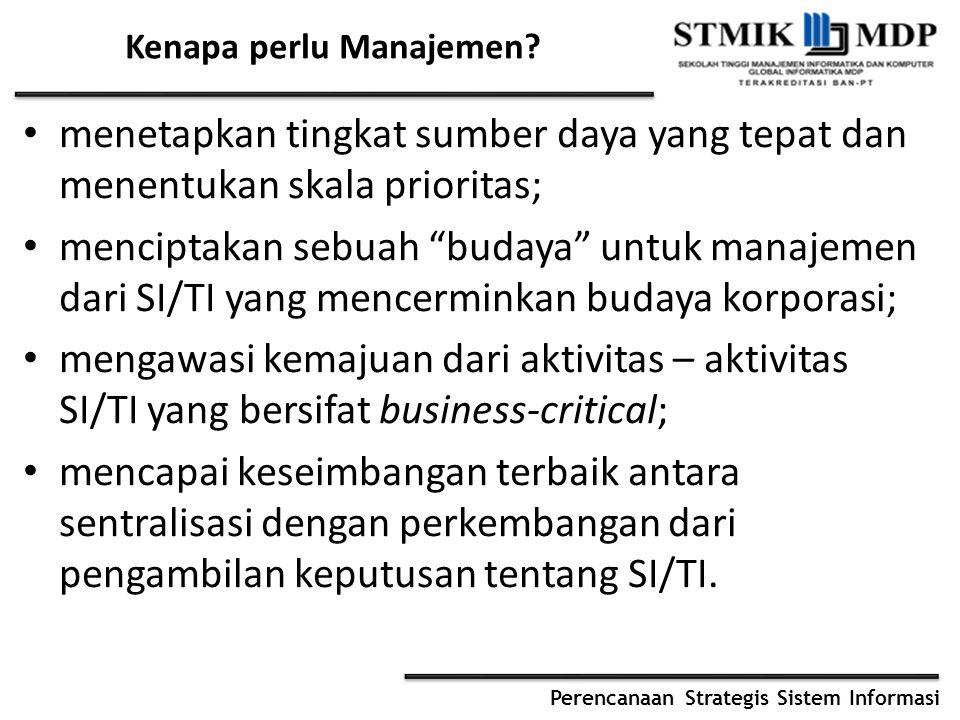 Kenapa perlu Manajemen