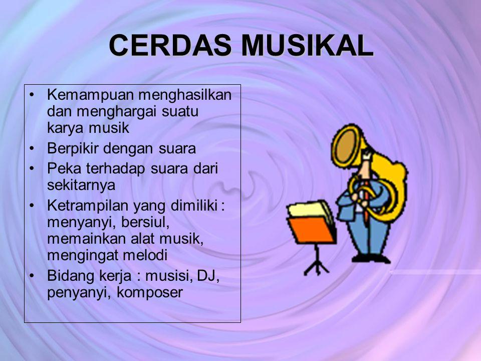 CERDAS MUSIKAL Kemampuan menghasilkan dan menghargai suatu karya musik