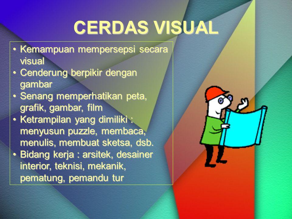 CERDAS VISUAL Kemampuan mempersepsi secara visual