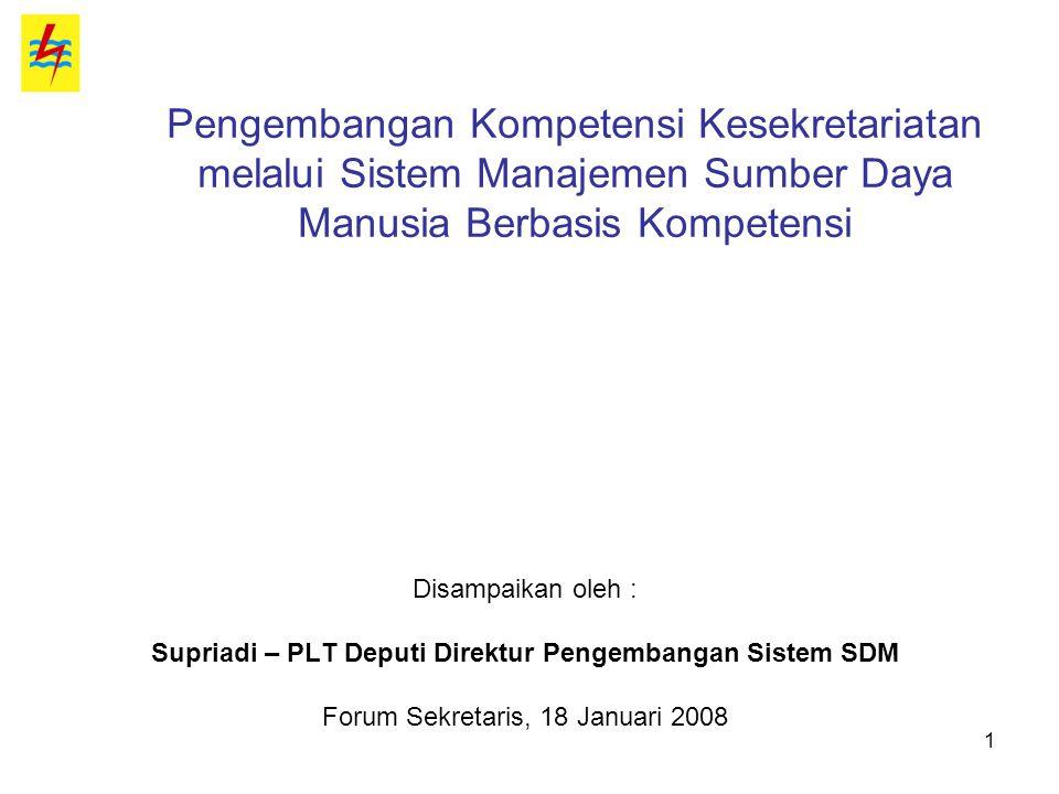 Supriadi – PLT Deputi Direktur Pengembangan Sistem SDM