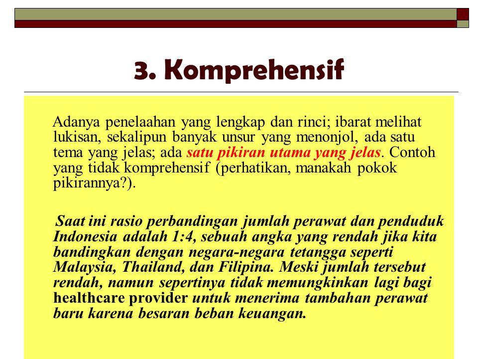 3. Komprehensif
