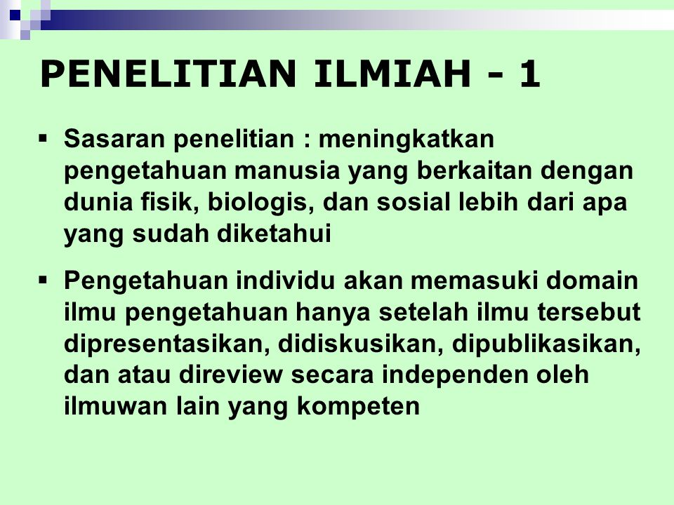 PENELITIAN ILMIAH - 1