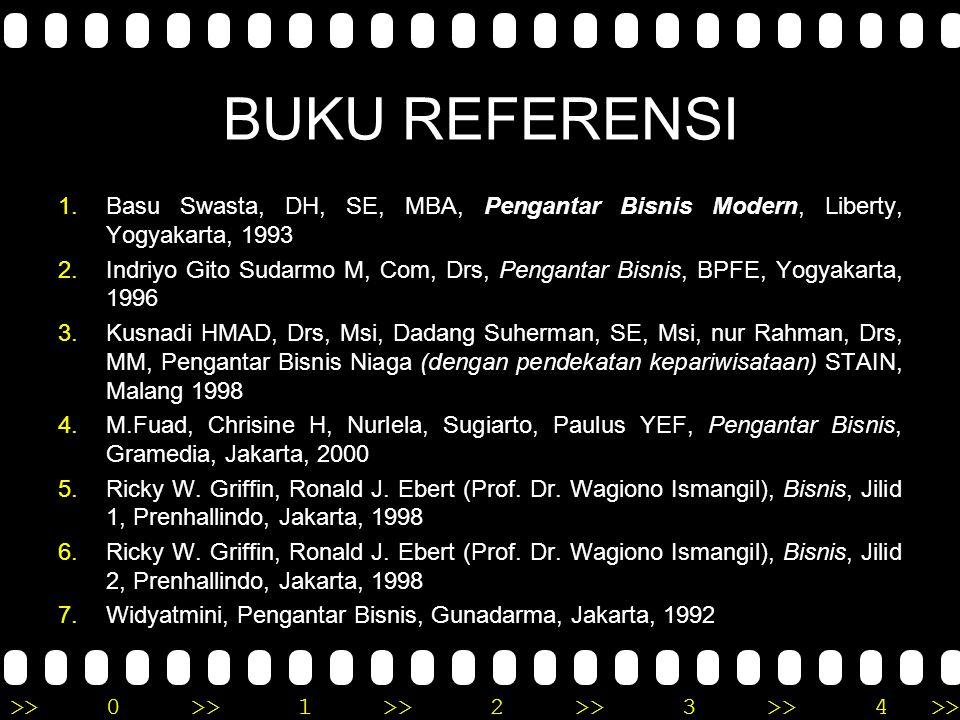 BUKU REFERENSI Basu Swasta, DH, SE, MBA, Pengantar Bisnis Modern, Liberty, Yogyakarta, 1993.