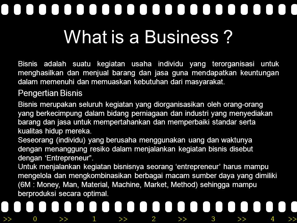 What is a Business Pengertian Bisnis