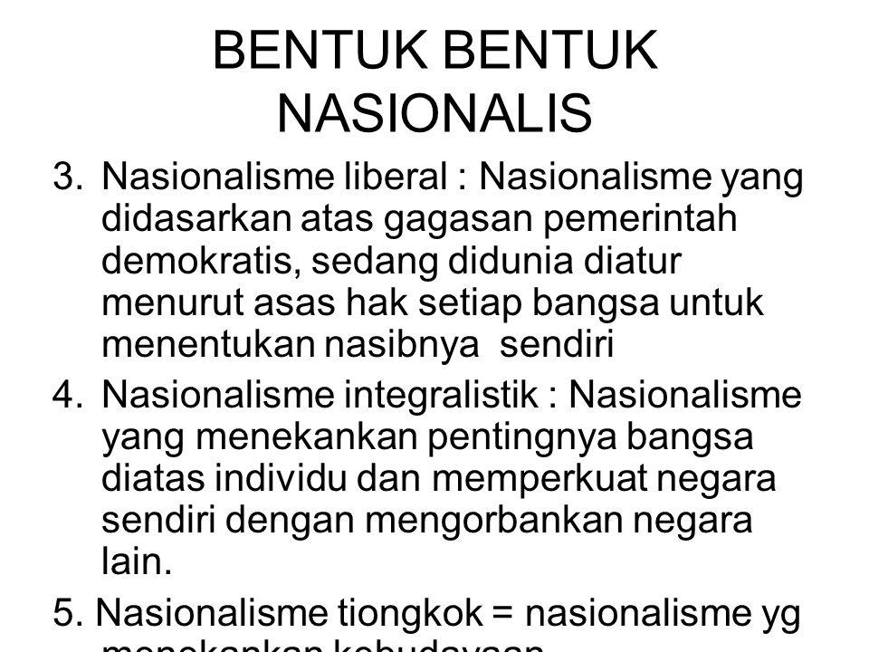 BENTUK BENTUK NASIONALIS