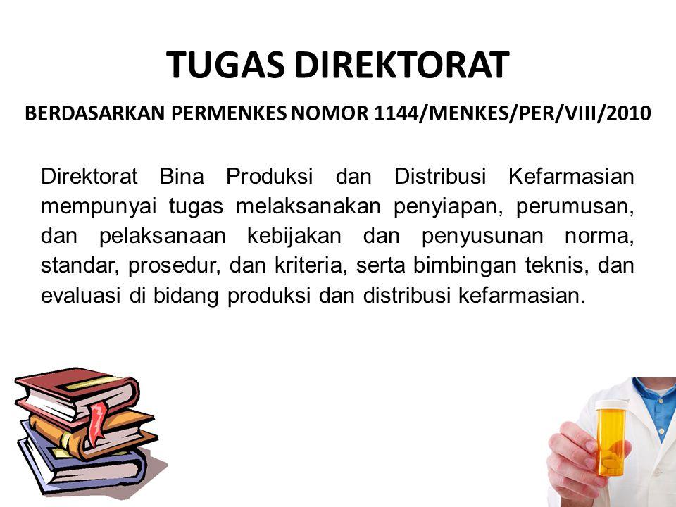 TUGAS DIREKTORAT BERDASARKAN PERMENKES NOMOR 1144/MENKES/PER/VIII/2010