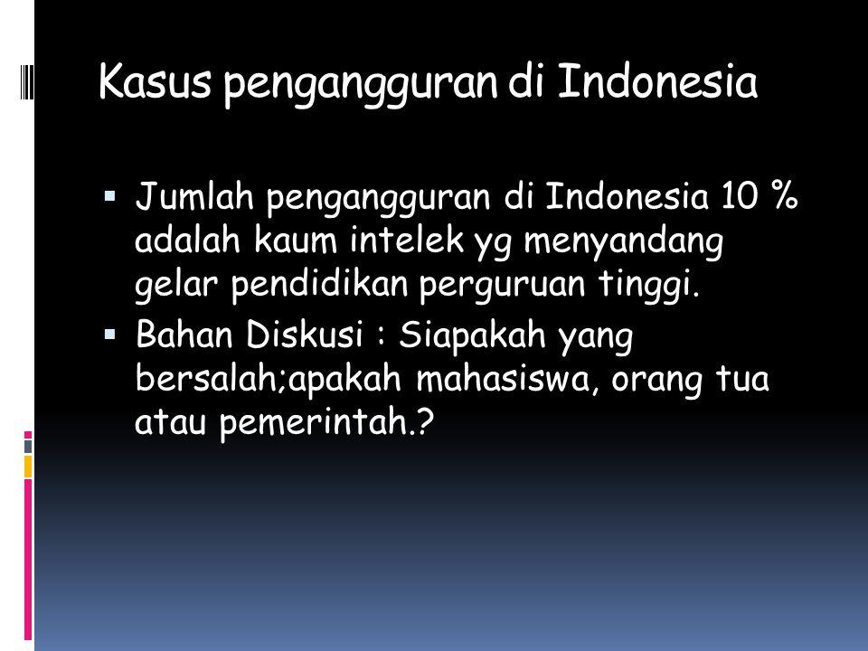 Kasus pengangguran di Indonesia