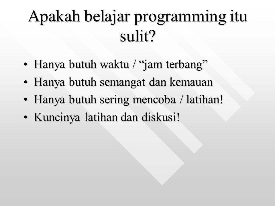 Apakah belajar programming itu sulit