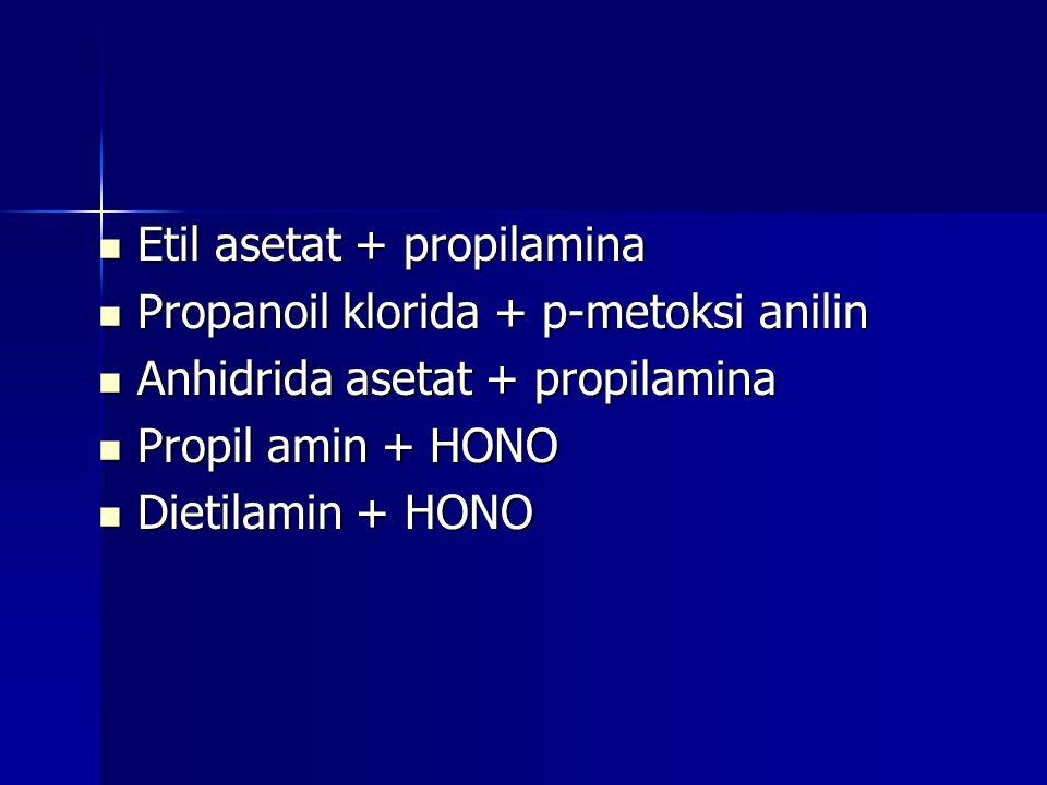 Etil asetat + propilamina