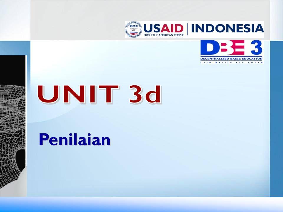 UNIT 3d Penilaian