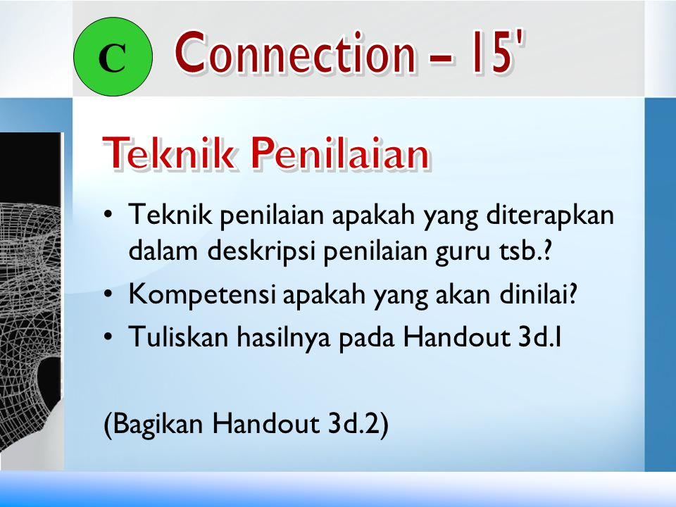 C Connection – 15 Teknik Penilaian