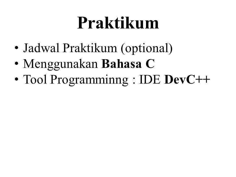 Praktikum Jadwal Praktikum (optional) Menggunakan Bahasa C