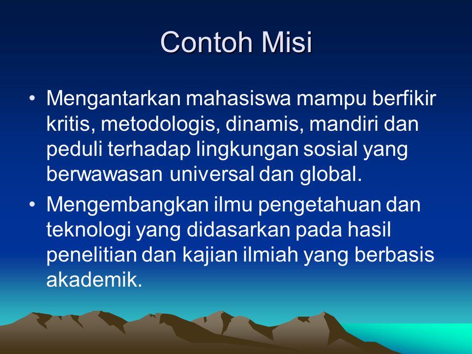 Contoh Misi