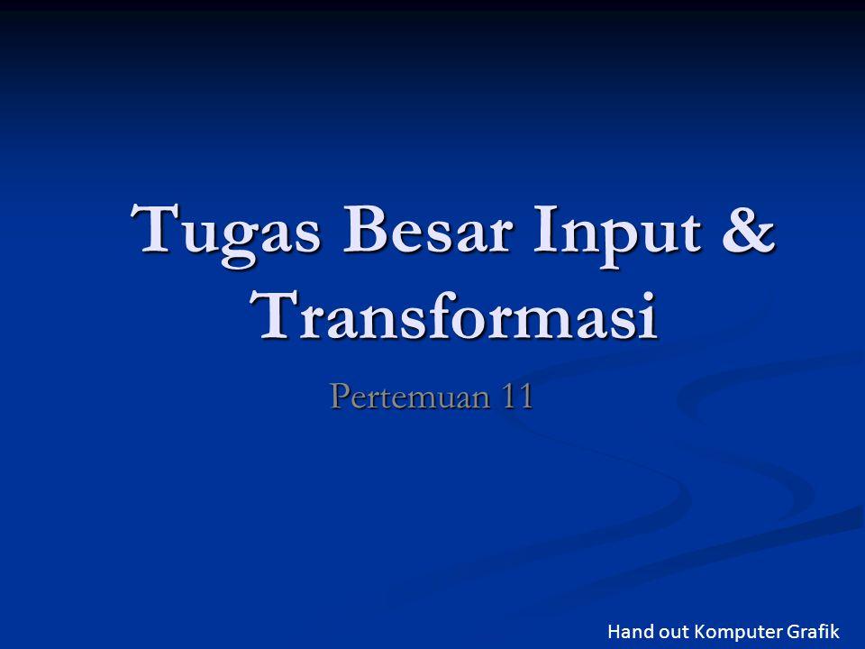 Tugas Besar Input & Transformasi