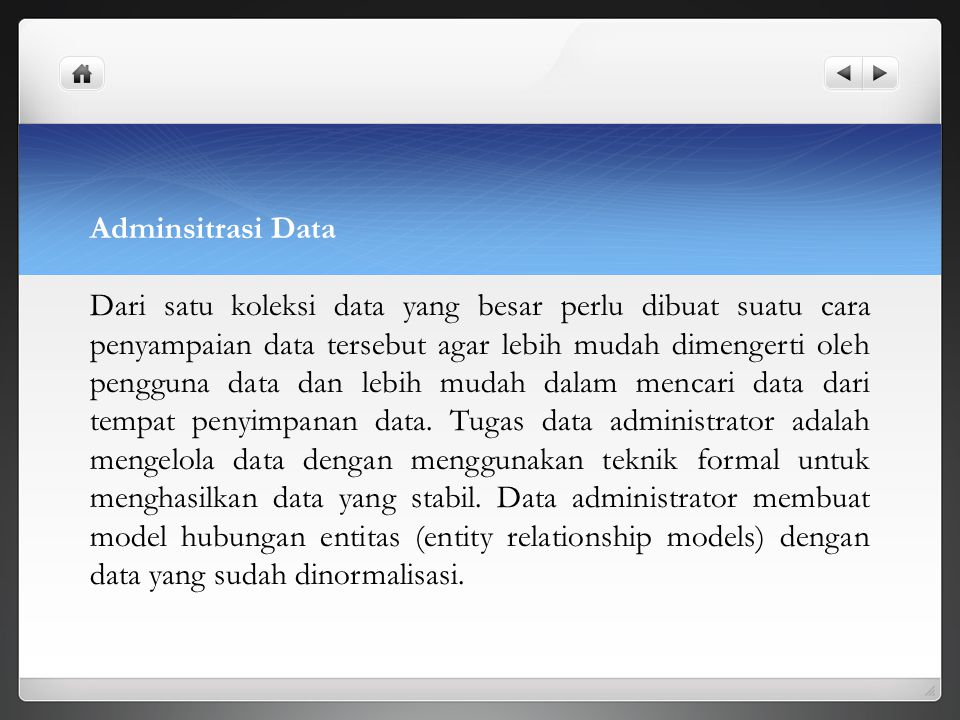 Adminsitrasi Data