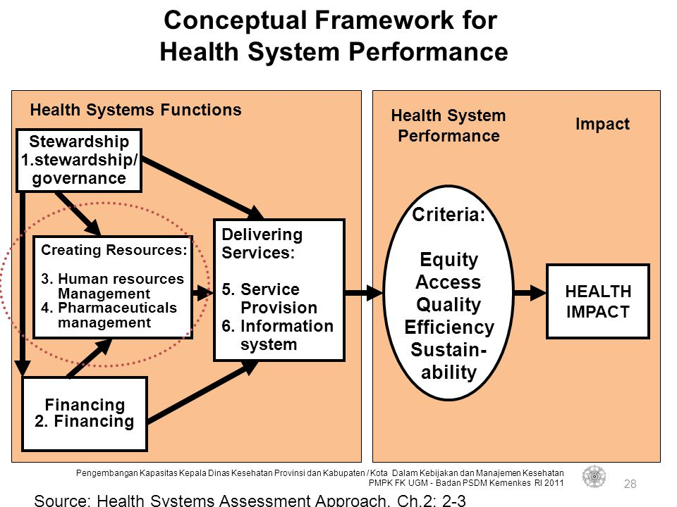 Conceptual Framework for Health System Performance