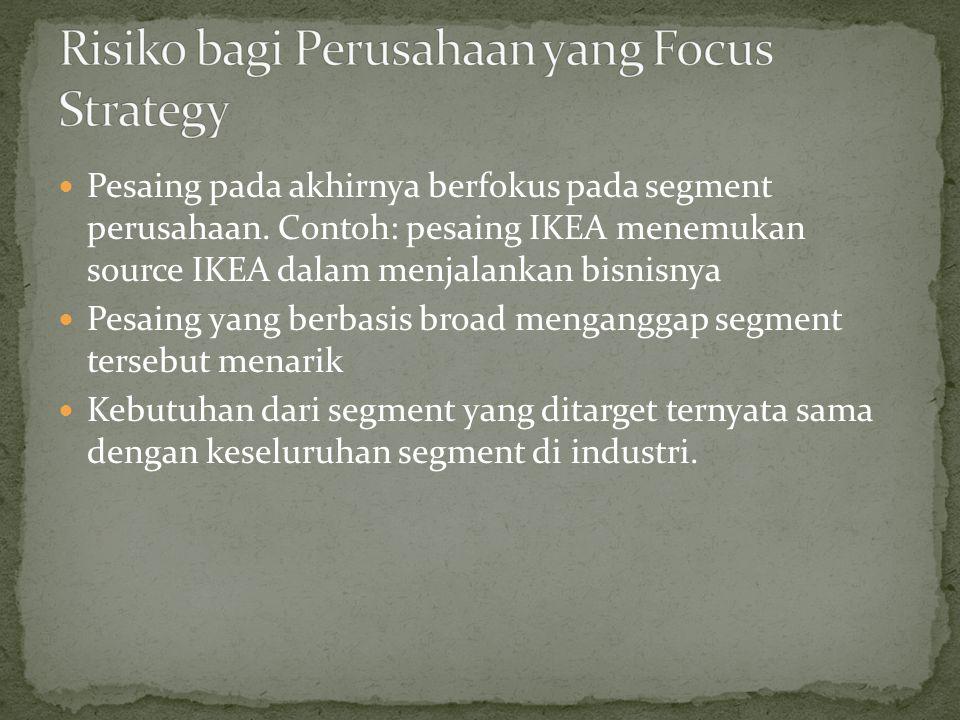 Risiko bagi Perusahaan yang Focus Strategy