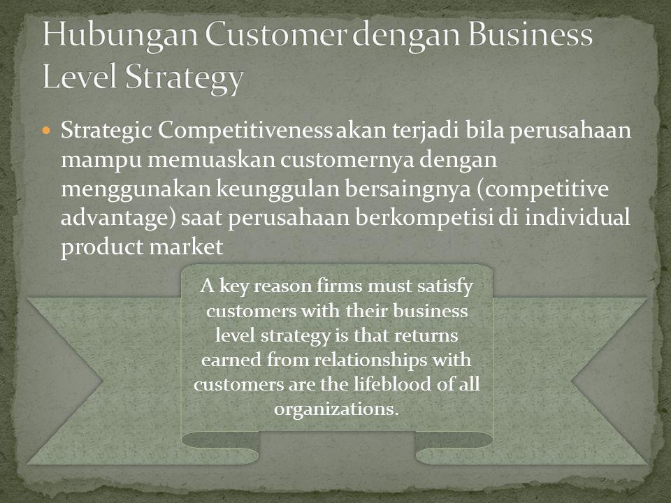 Hubungan Customer dengan Business Level Strategy