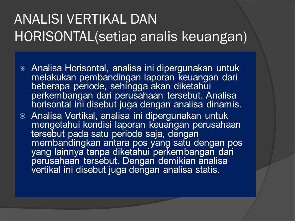 ANALISI VERTIKAL DAN HORISONTAL(setiap analis keuangan)