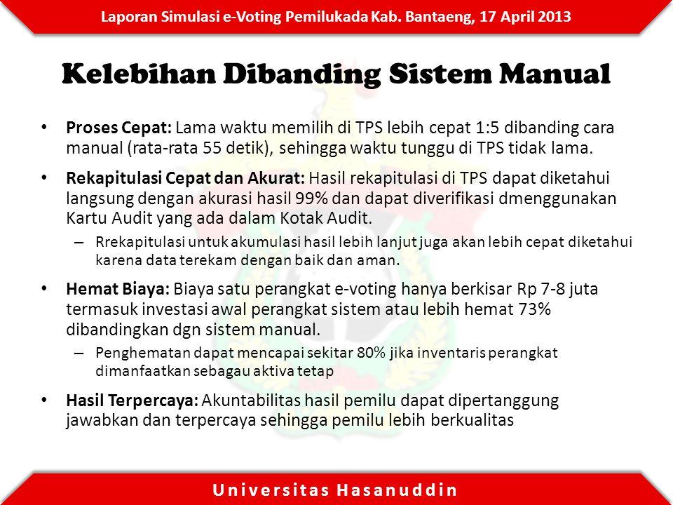 Kelebihan Dibanding Sistem Manual