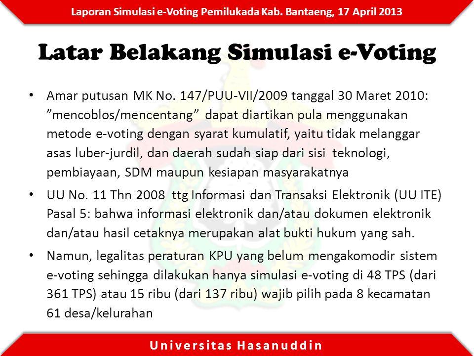 Latar Belakang Simulasi e-Voting